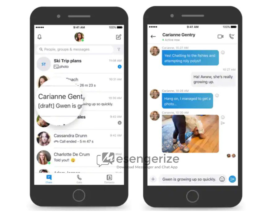 Skype 2020 lugs idea messages, book marks, file sneak peeks, split-screen