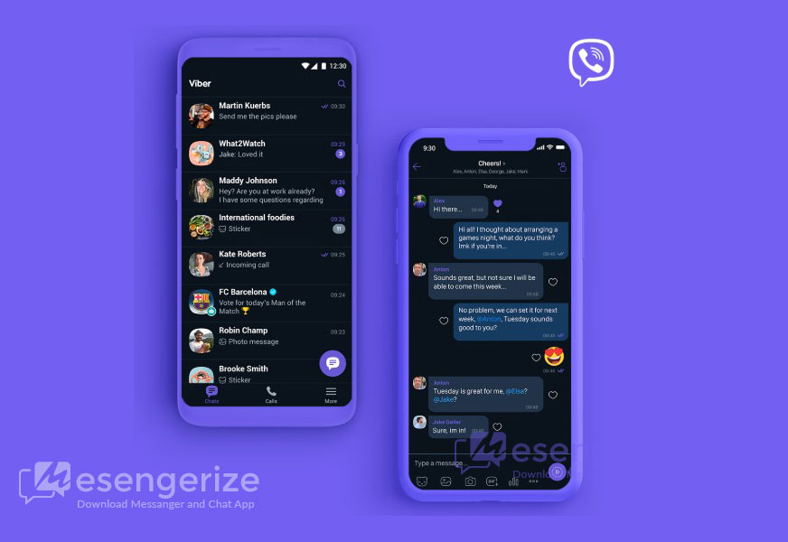 Viber obtains dark mode on Android