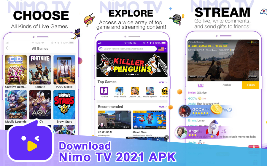 Download Nimo TV 2021 APK for Android